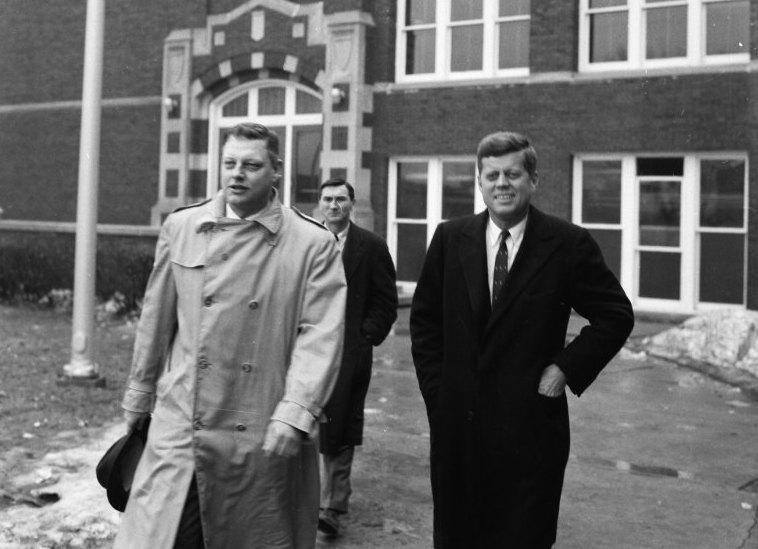 John F. Kennedy campaigns in Kaukauna in April of 1960. Kaukauna Times photo