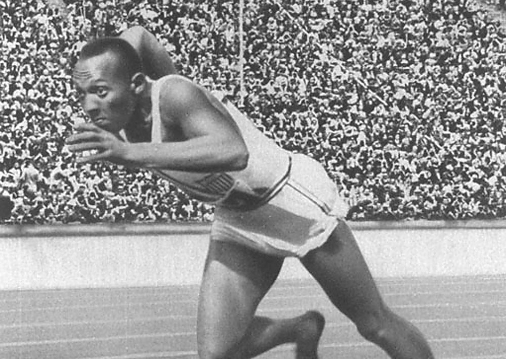 Jesse Owens at the 1946 Berlin Olympics. Photo from Olympics.org