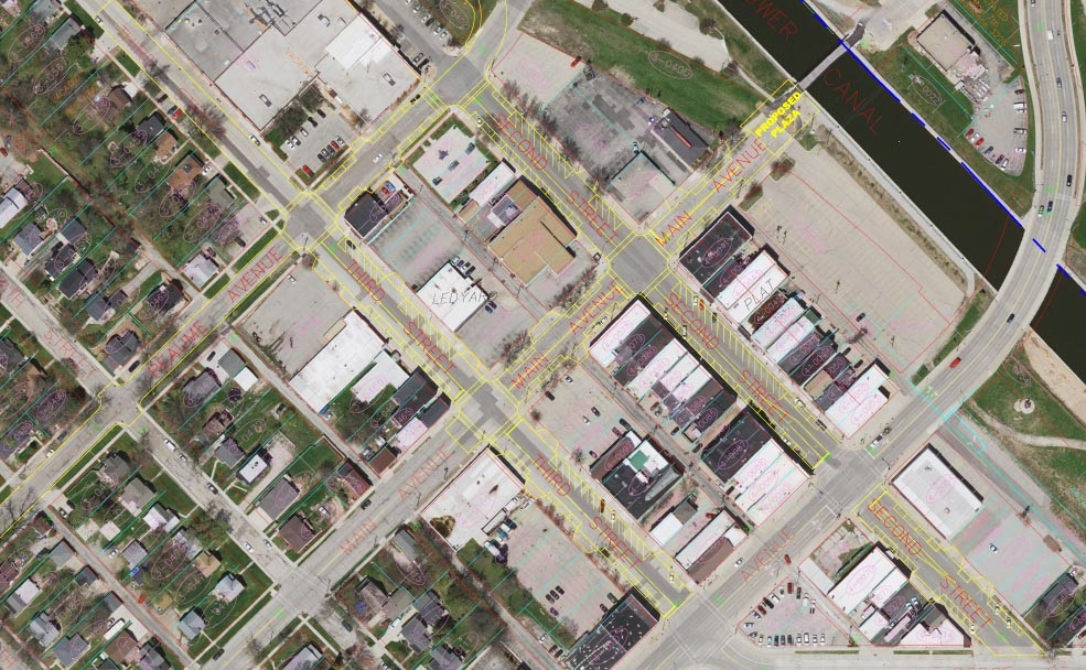 Proposed parking changes in downtown Kaukauna, 2016