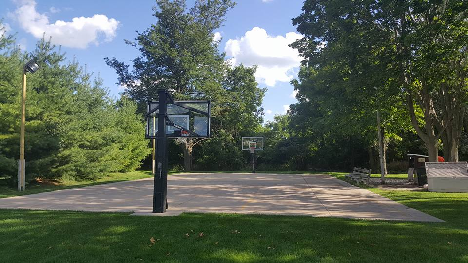 McCabe neighborhood basketball court in Kaukauna