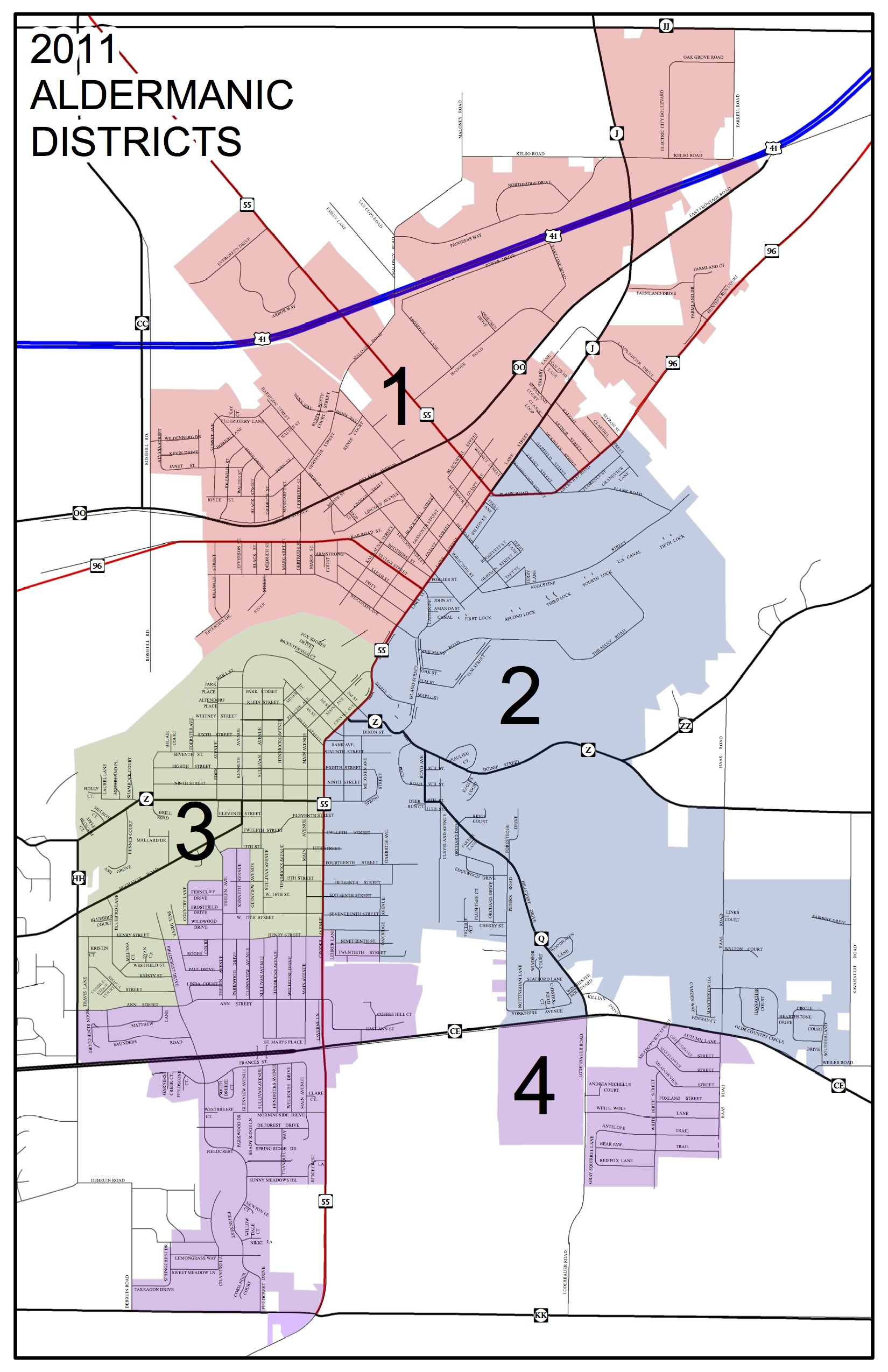 Kaukauna municipal districts