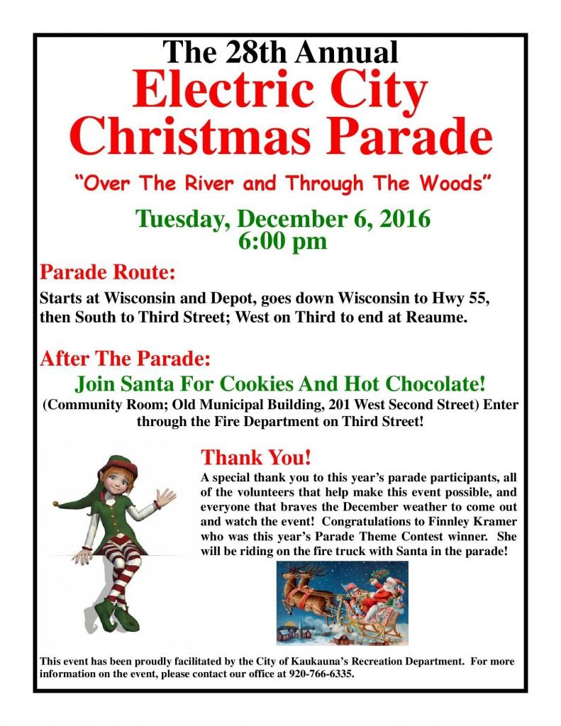 Kaukauna Christmas Parade 2020 Kaukauna's 28th annual Electric City Christmas parade kicks off
