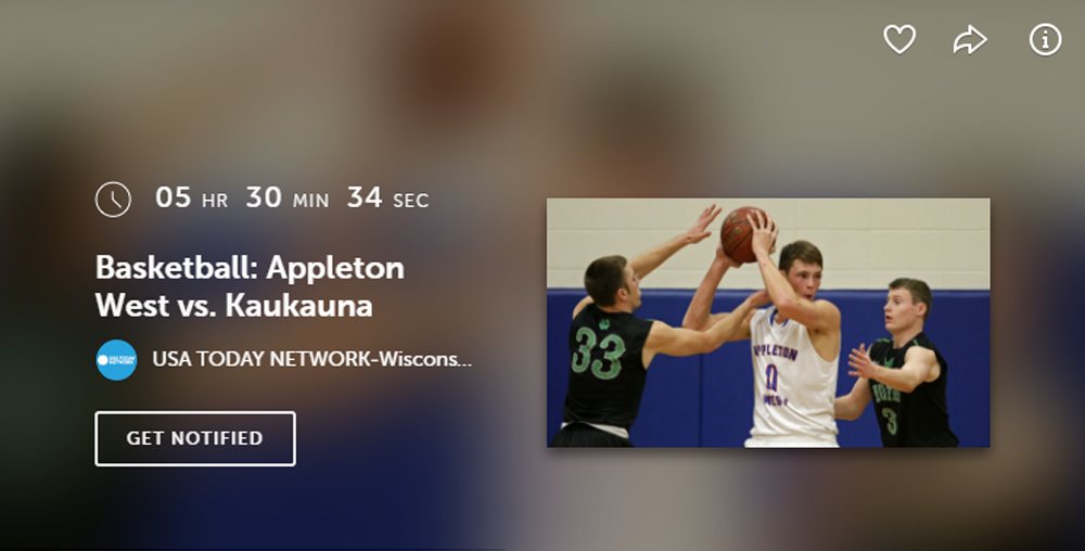 Kaukauna vs Appleton West Post Crescent live stream