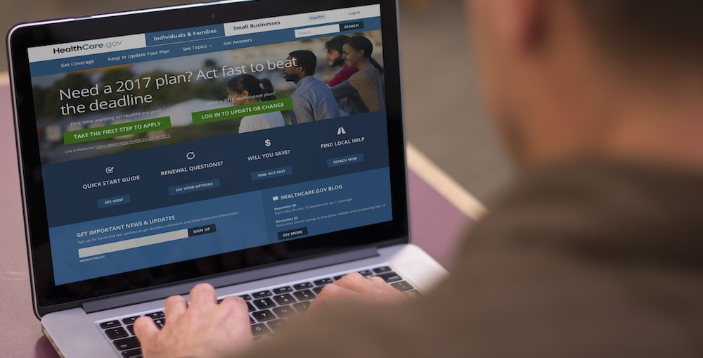 Sign up for the Affordable Care Act, or Obamacare, at Healthcare.gov.