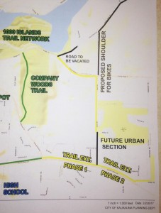 City of Kaukauna map from Feb. 2017 of the proposed extension to the CE Trail.