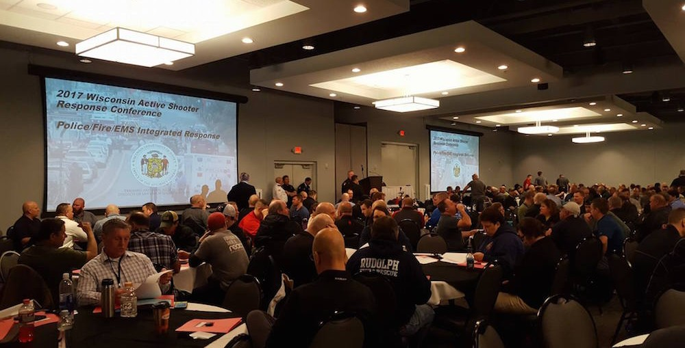 2017 active shooter conference. Fox Crossing Police Dept. photo.