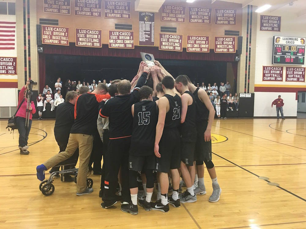 The No. 3 seed Ghosts captured the Regional title Saturday with an 84-72 win over Luxemburg-Casco.