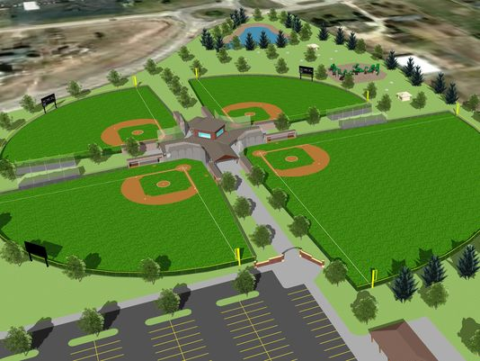 The $3 million, four-diamond baseball complex would be built on vacant land at the southeast corner of Wisconsin Highway 55 and County Highway KK.
