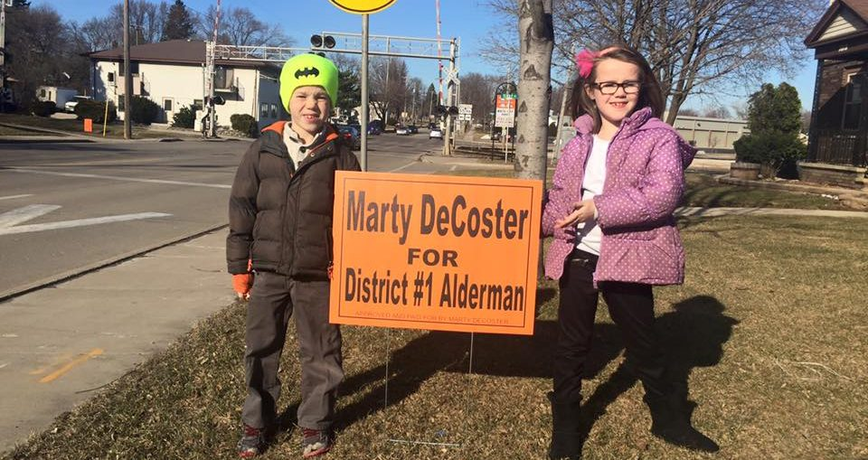 Campaign photo from the Marty for Alderman Facebook page.