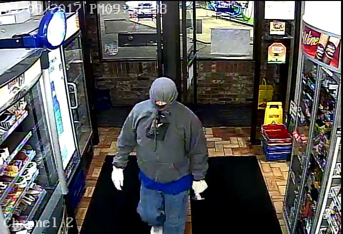 Suspect in a robbery in Kimberly April 9, 2017. Photo via Fox Valley Metro Police