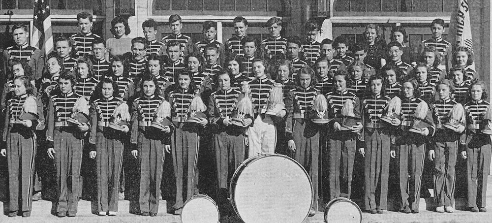 1939 Kaukauna High School Band. Kaukauna Times photo.
