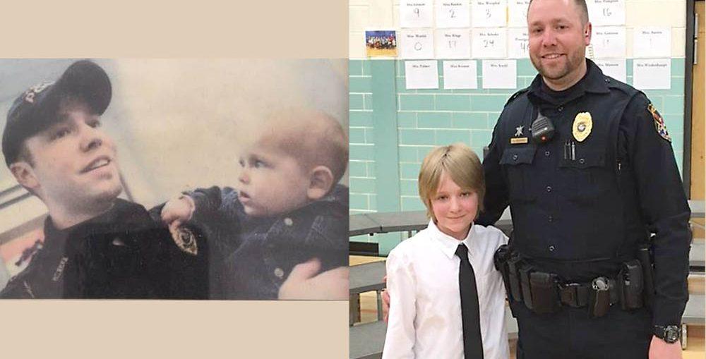 Photo credit, left, Mike DeSisti, Appleton Post Crescent, 2006; Right Kaukauna Police Department, April 20, 2017