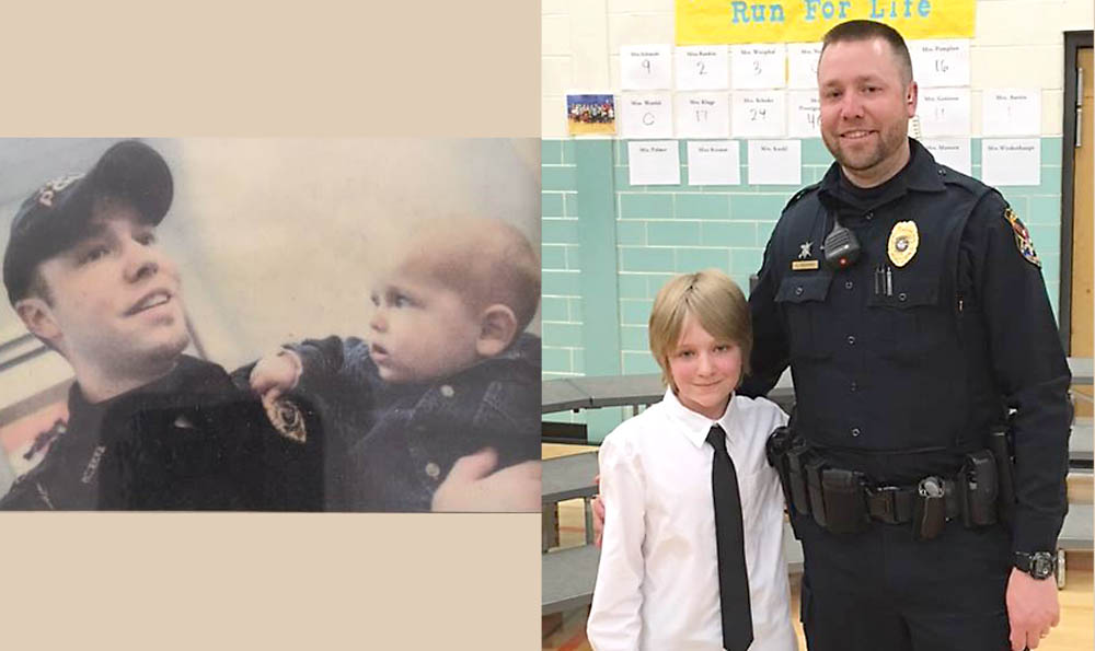 Photo credit, left, Mike DeSisti, Appleton Post Crescent, 2006; Right Kaukauna Police Department, April 20, 2017