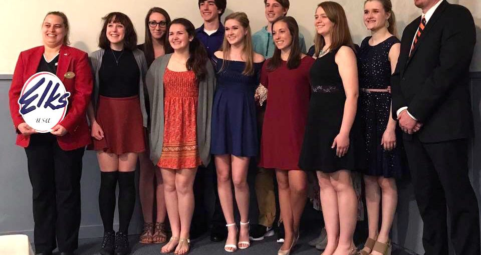 The Kaukauna High school class of 2017 academic top ten were recognized May 1, 2017 at the Kaukauna Elks banquet. KHS photo.