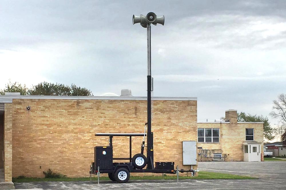 >A temporary tornado warning siren has been moved to St. Aloysius, Outagamie County Emergency Management photo.