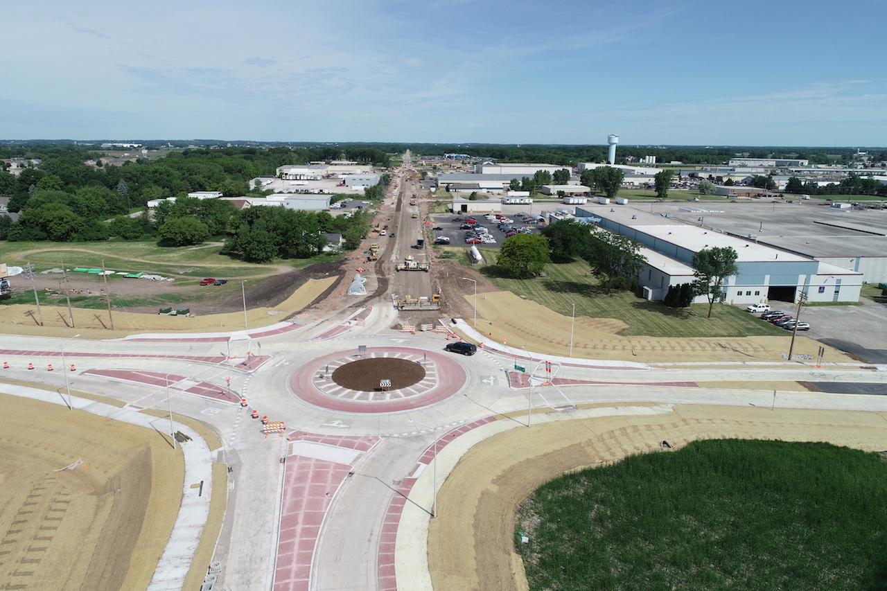Highway 55, Interstate 41 interchange. WisDOT photo.