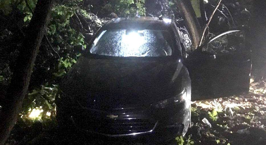 Emergency crews rescued two people from a car that tumbled down an embankment early June 5, 2019.