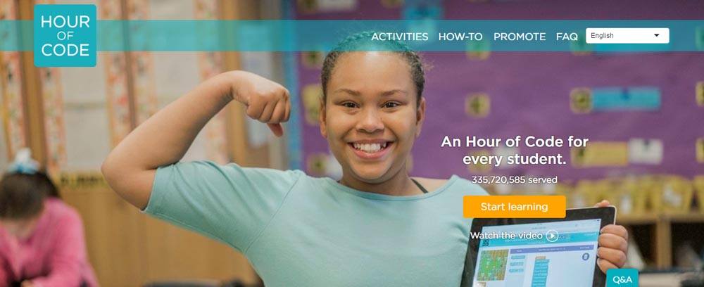 """Students at Electa Quinney Elementary school will participate in """"Hour of Code"""" activities during their library/media classes throughout the week of Dec. 19, 2016."""