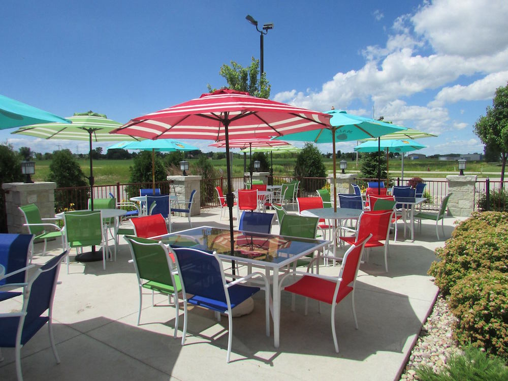 The outdoor dining area of Little Chicago Dining and Spirits, south of Kaukauna. Facebook photo.