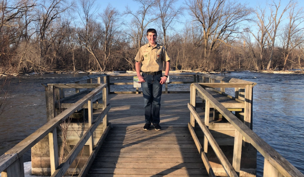 Brody Riehl is working with 1000 Islands Environmental Center in Kaukauna to completely redo the the pier that has fallen into disrepair.